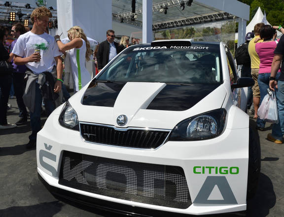 Skoda, concept Citigo Rally e Dj Car a raduno tuning