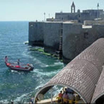 Il porto di Akko, in Israele