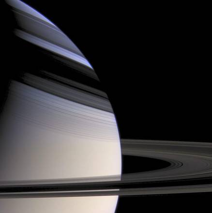 Saturn's rings and shadows [ARCHIVE MATERIAL 20120716 ]