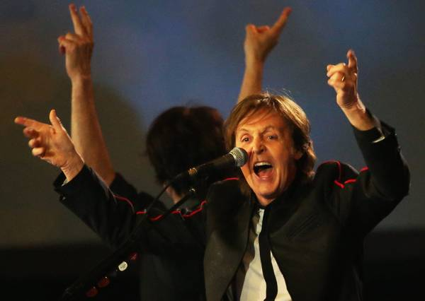 Paul McCartney alla cerimnonia di apertura