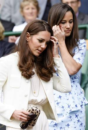 Le sorelle Middleton in tribuna a Wimbledon
