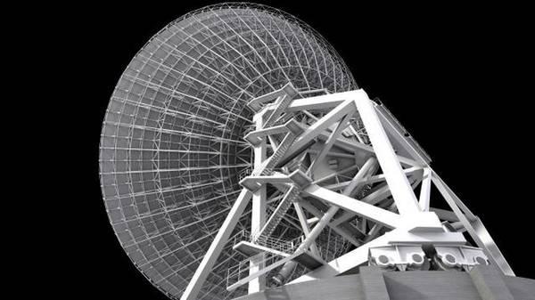 La grande antenna del Sardinia Radio Telescope (fonte: INAF- Osservatorio Astronomico di Cagliari)