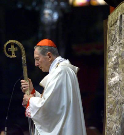 Il cardinale Carlo Maria Martini in una foto d'archivio
