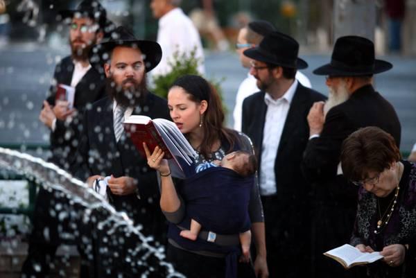 Ebrei ortodossi al Capodanno ebraico a Gerusalemme