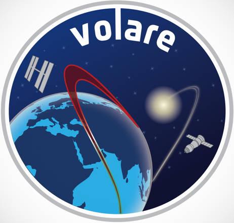 Lo della missione ''Volare'' che il 19 maggio 2013 porterà sulla Stazione Spaziale l'astronauta Luca Parmitano (fonte: ESA/ASI)