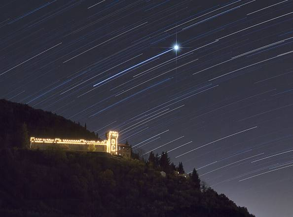 Sirio nel cielo di gennaio (fonte: Marco Meniero, http://www.meniero.it/)