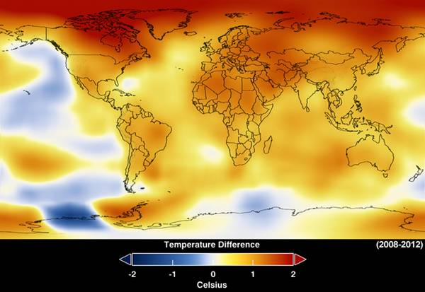 NASA Finds 2012 Sustained Long-Term Climate Warming Trend