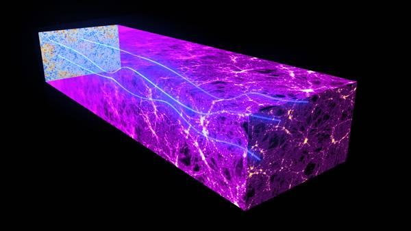 Il satellite Herschel ha intercettato la deviazione subita dal fondo di radiazione cosmica (fonte: ESA and the Planck Collaboration)