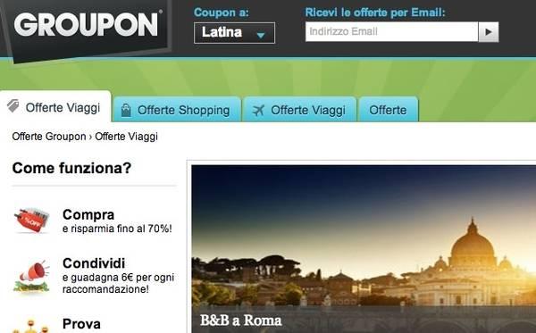 Su Groupon si prenota anche l\'hotel - In Viaggio - ANSA.it