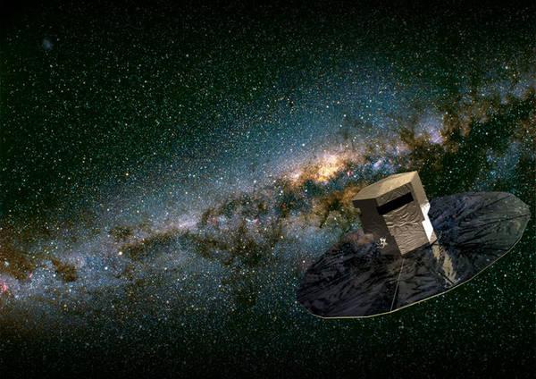 Rappresentazione artistica della missione Gaia (fonte: ESA/Medialab)