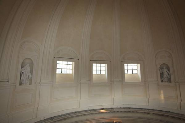 Gli orti per l'arte, la cupola restaurata della Chiesa degli Artisti a Roma