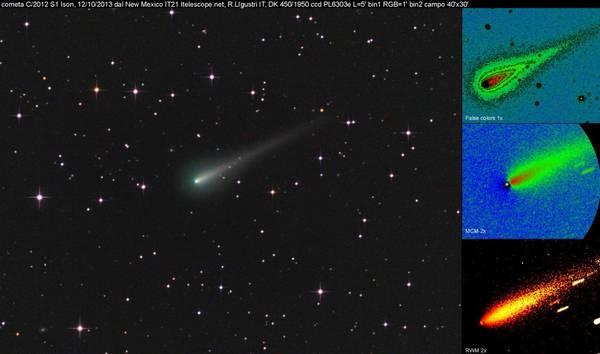 La cometa Ison fotografata da Rolando Ligustri (fonte: Rolando Ligustri, UAI)