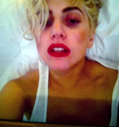 Una foto di Lady Gaga postata su Twitter