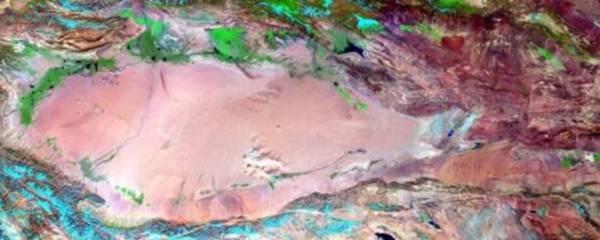 Il percorso della Via della Seta visto dai satelliti (fonte: CNR)