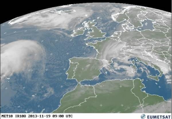 Come è nato il ciclone che ha travolto la Sardegna