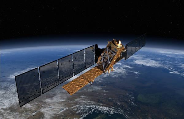 Rappresentazione artistica del satellite Sentinel 1A (fonte: ESA/ATG Medialab)