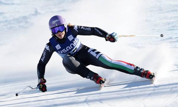La sciatrice Elna Curtoni al super-g di Beaver Creek