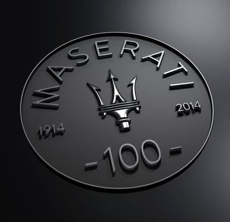 Maserati compie 100 anni, un logo celebra l'evento
