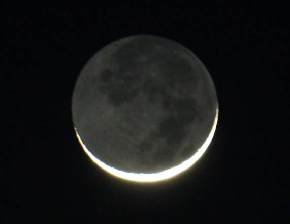Luna a barchetta (fonte: Paolo Volpini, Associazione Astrfili di Piombino, www.astropiombino.org)