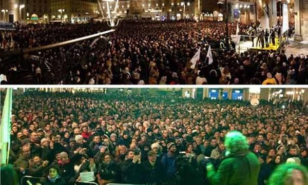 Beppe Grillo: 'Io contestato a Parma? Le foto dicono il contrario'