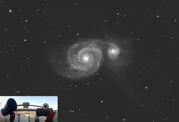 La galassia M51 vista dal Virtual Telescope (fonte: Gianluca Masi, Virtual Telescope Poject)