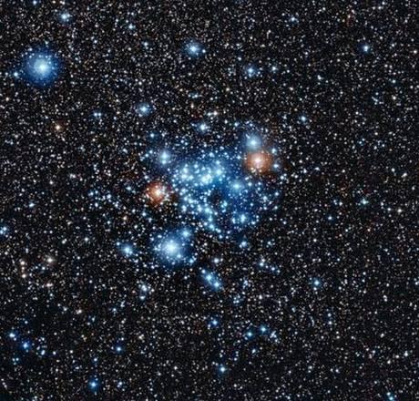 L'ammasso stellare aperto NGC 3766, nella costellazione del Centauro (fonte: ESO)