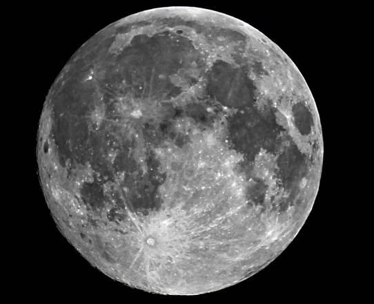 La Super Luna fotografata da Massimo Brizzi (fonte: Massimo Brizzi)