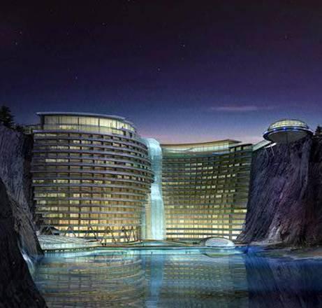 Cina,al via costruzione hotel extra lusso in ex cava