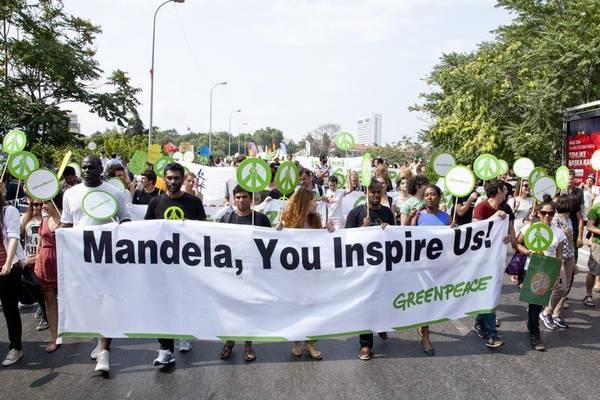 Manifestazione a Istanbul contro l'uso di carbone (fonte Greenpeace)