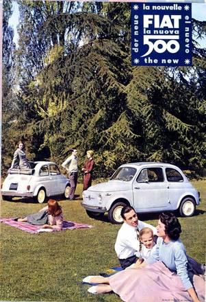 Fiat, la Nuova 500, 1957, archivio Fiat