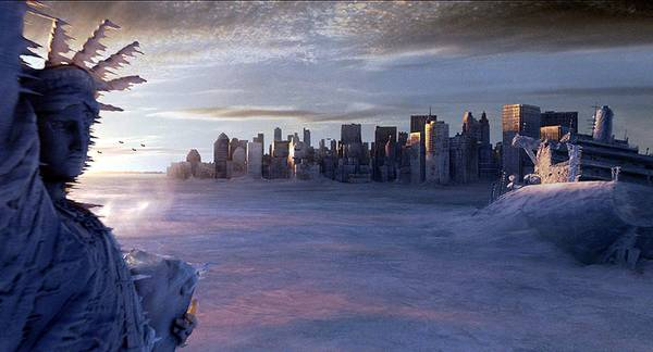 Una foto di scena del film 'L'alba del giorno dopo', The Day After Tomorrow, di Roland  Emmerich