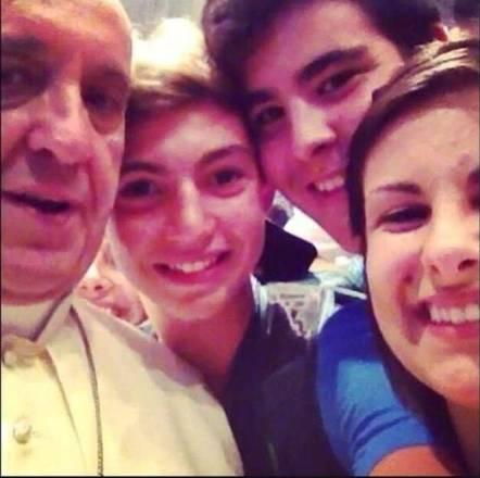 Autoscatto con Papa Bergoglio