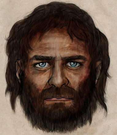 Ricostruzione artistica dell'aspetto degli antichi cacciatori europei (fonte: CSIC)