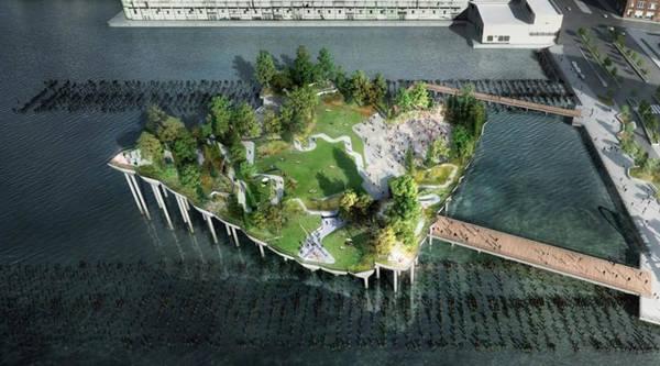 A New York presto oasi verde avveniristica su fiume Hudson