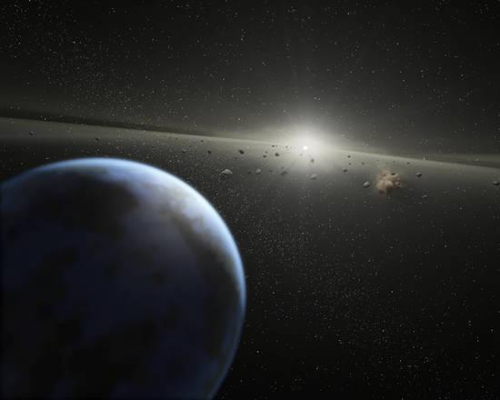 Frammenti di pianeti simili alla Terra