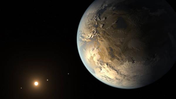 Kepler-186f è il primo pianeta nella zona abitabile ad avere dimensioni simili alla Terra (fonte: NASA Ames/SETI Institute/JPL-CalTech)