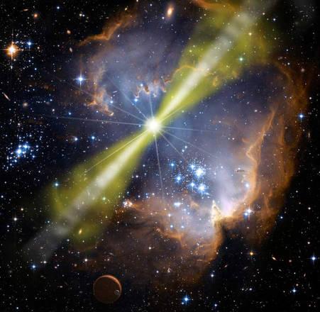 Mistero fitto sulle 'code' dei lampi gamma