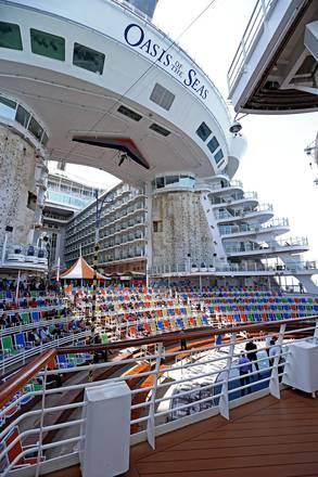A bordo della Oasis of the Seas/FOTO ALESSANDRO DI MEO