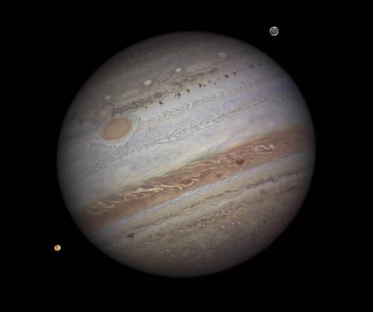 Giove sarà ben visibile nel cielo di febbraio (fonte: NASA/Damian Peach, Amateur Astonomer)