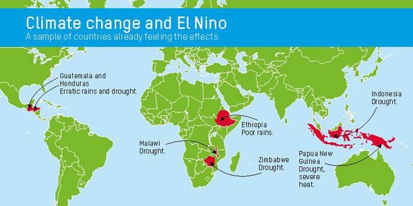 Dieci milioni di persone a rischio fame per colpa di El Nino (Oxfam)