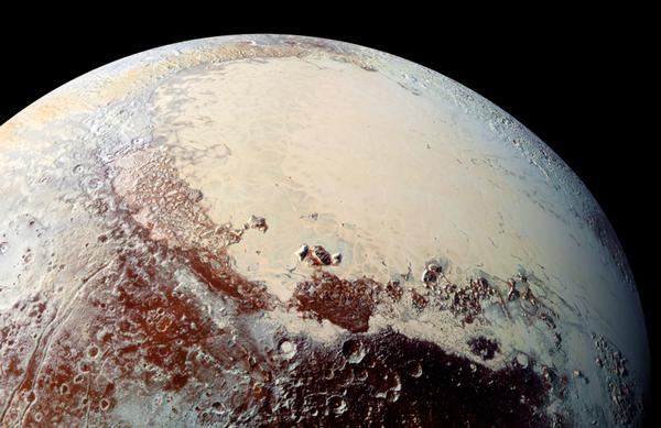 La mappa di Plutone rivela colori del pianeta nano (fonte: NASA/JHUAPL/SwRI)