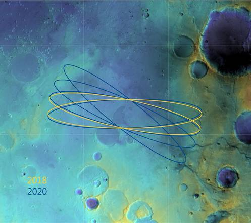 Dida: Scelto Oxia Planum come principale sito per l'atterraggio europeo su Marte (fonte: ESA/DLR/FU Berlin & NASA MGS MOLA Science Team)