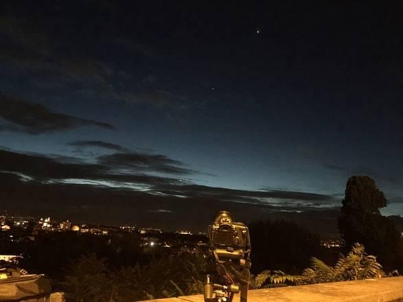 Luna, Venere, Giove e Marte nel cielo di ottobre (fonte; Gianluca Masi, The Virtual Teelscope Project 2.0)