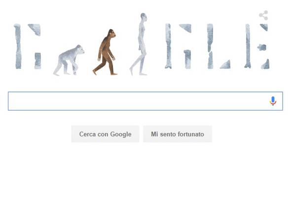 Google, il doodle dedicato all' austrolopiteco Lucy