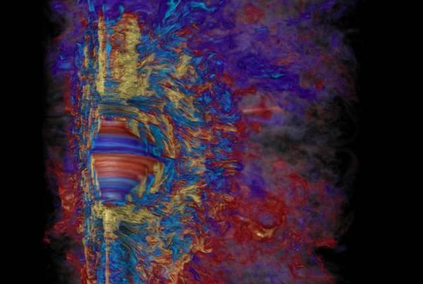Simulata al computer l'esplosione di una stella gigantesca, più potente di una supernova: un'ipernova (fonte: Robert R. Sisneros (NCSA) and Philipp Mösta)