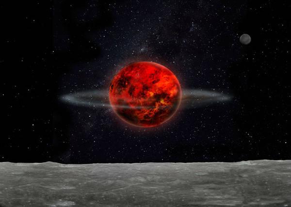 L'inclinazione dell'asse della Luna modificata in seguito ad una serie di bombardamenti da parte di asteroidi e comete (fonte: Laetitia Lalila)