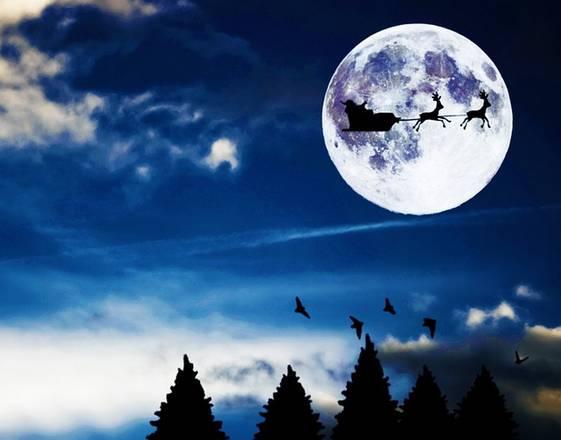 Natale 2015 con la luna piena, non accadeva dal 1977