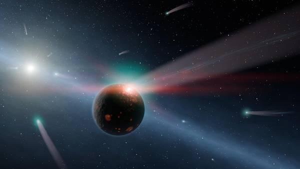 Comete intorno a una stella (fonte: Nasa)
