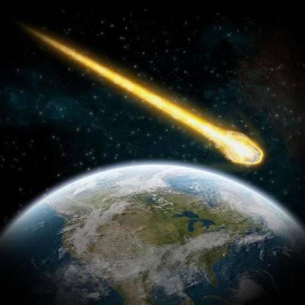 Rappresentazione artistica del passaggio di un asteroide vicino alla Terra