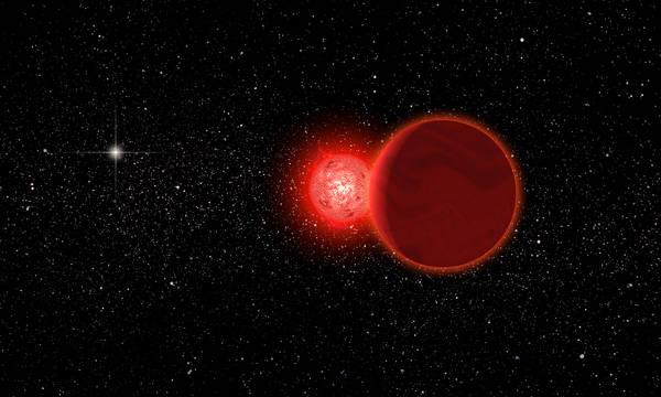 Rappresentazione artistica della stella 'alina' che 70.000 anni fa ha invaso il Sistema Solare (fonte: Michael Osadciw/University of Rochester)